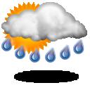 Averses de pluie,17.6°C