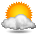 Ciel nuageux,14.5°C