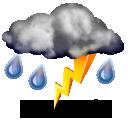 Violents orages,15.3°C