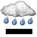 Pluie modérée,15.0°C