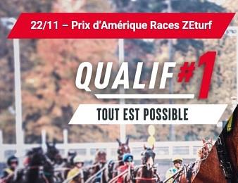 La Prix d'Amérique Races ZEturf Qualif #1 a lieu ce dimanche 22 novembre à Vincennes